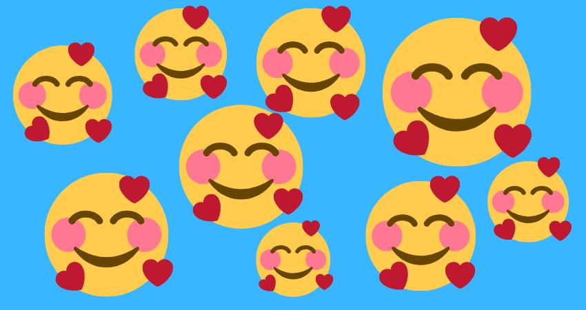 Smiley verliebte augen